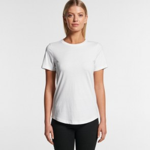 AS Colour Woman's Drop Tee - White Model Front