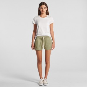 AS Colour Women's Jersey Shorts - Avocado Model Front