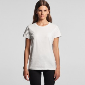 AS Colour WO's Maple Tee - White Model Front