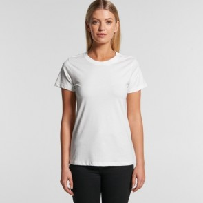 AS Colour Women's Organic Maple Tee - White Model Front