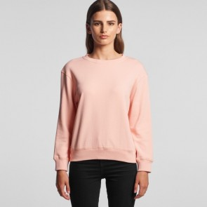AS Colour Women's Premium Crew - Pale Pink Model Front