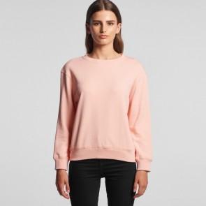 AS Colour Women's Premium Crew - Pale Pink Model Front