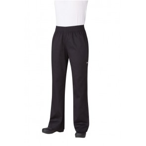 Chef Works Women's Black Essential Baggy Chef Pants