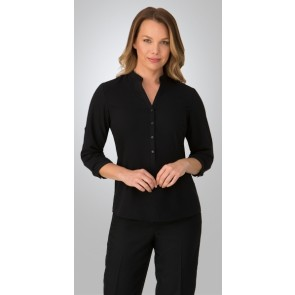 City Collection Women's Easy 3 Qtr Sleeve Shirt