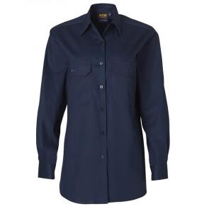 Australian Industrial Wear Women's Cotton Drill Long Sleeve Work Shirt