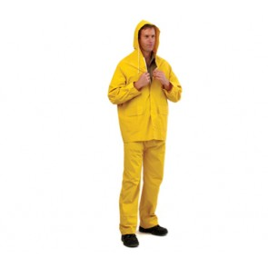 Yellow PVC Rain Jacket & Pants RJ+RP