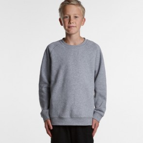 AS Colour Youth Supply Crew - Grey Marle Model Front