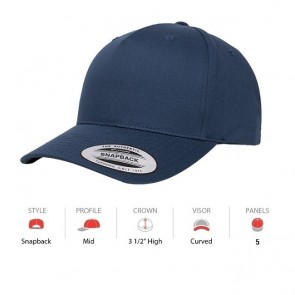 Yupoong Classic 5 Panel - Navy Cap Key