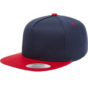 Yupoong Classic 5 Panel - Navy Red