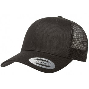 Yupoong Classic Retro Trucker - Black Front