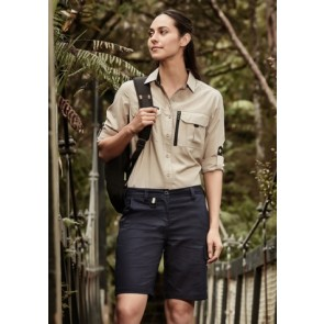 Syzmik Womens Rugged Cooling Vented Short - Navy Model